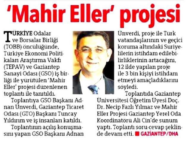 Mahir Eller Projesi Tanıtıldı Hürriyet Adana Çukurova