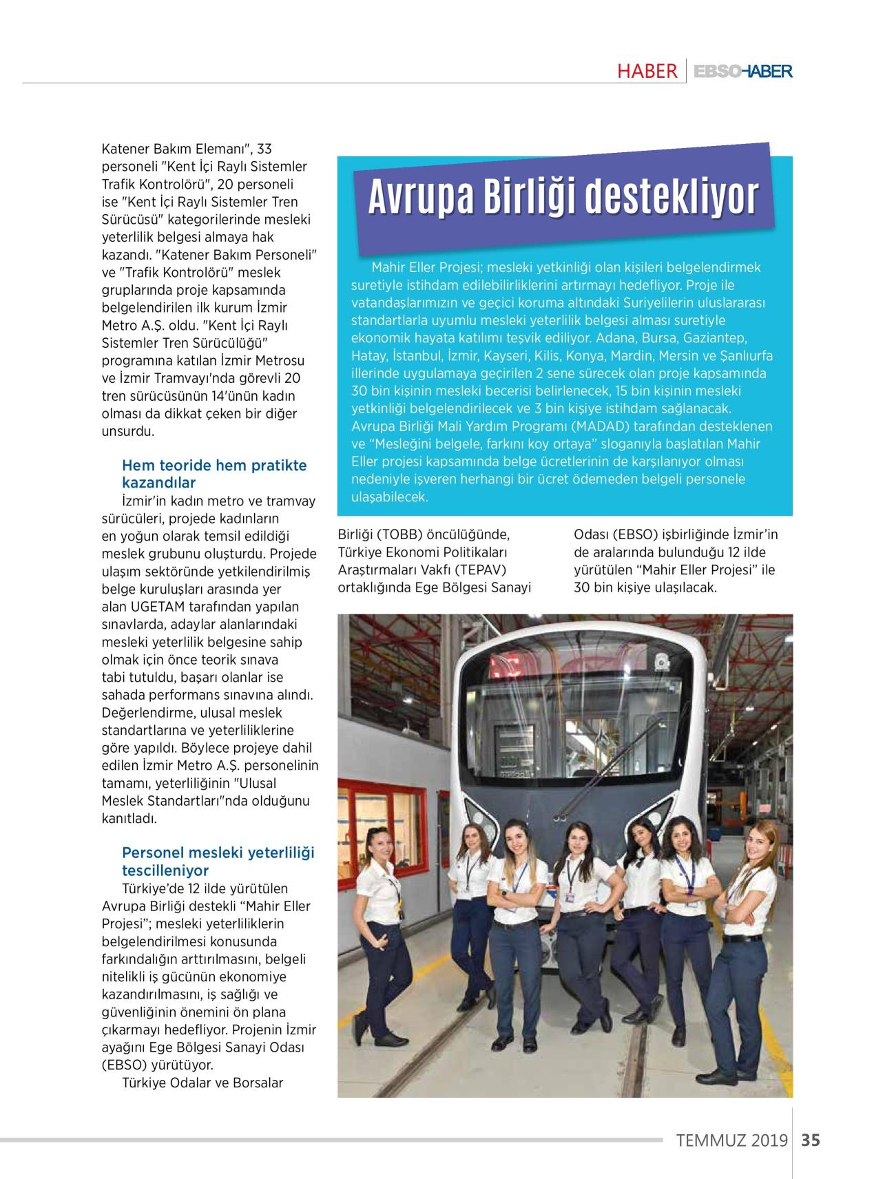 İzmir Metrosu Mahir Eller