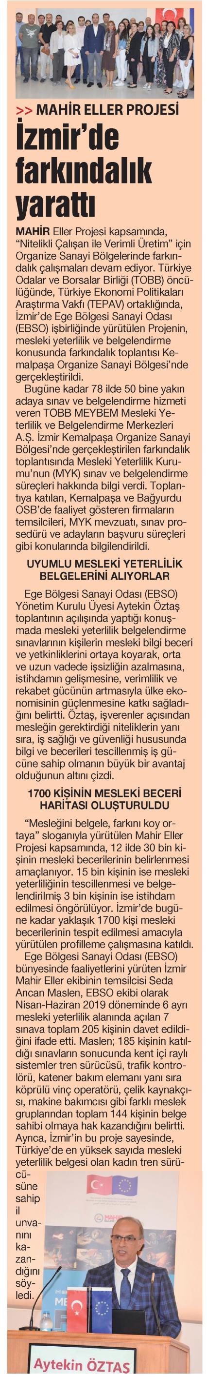 Mahir Eller Projesi İzmir