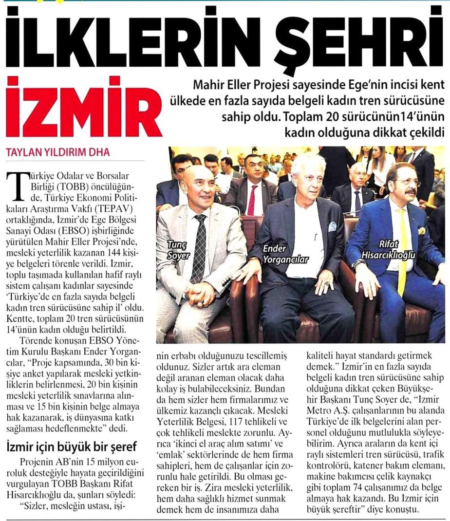 İlklerin Şehri İzmir Milliyet İzmir Ege