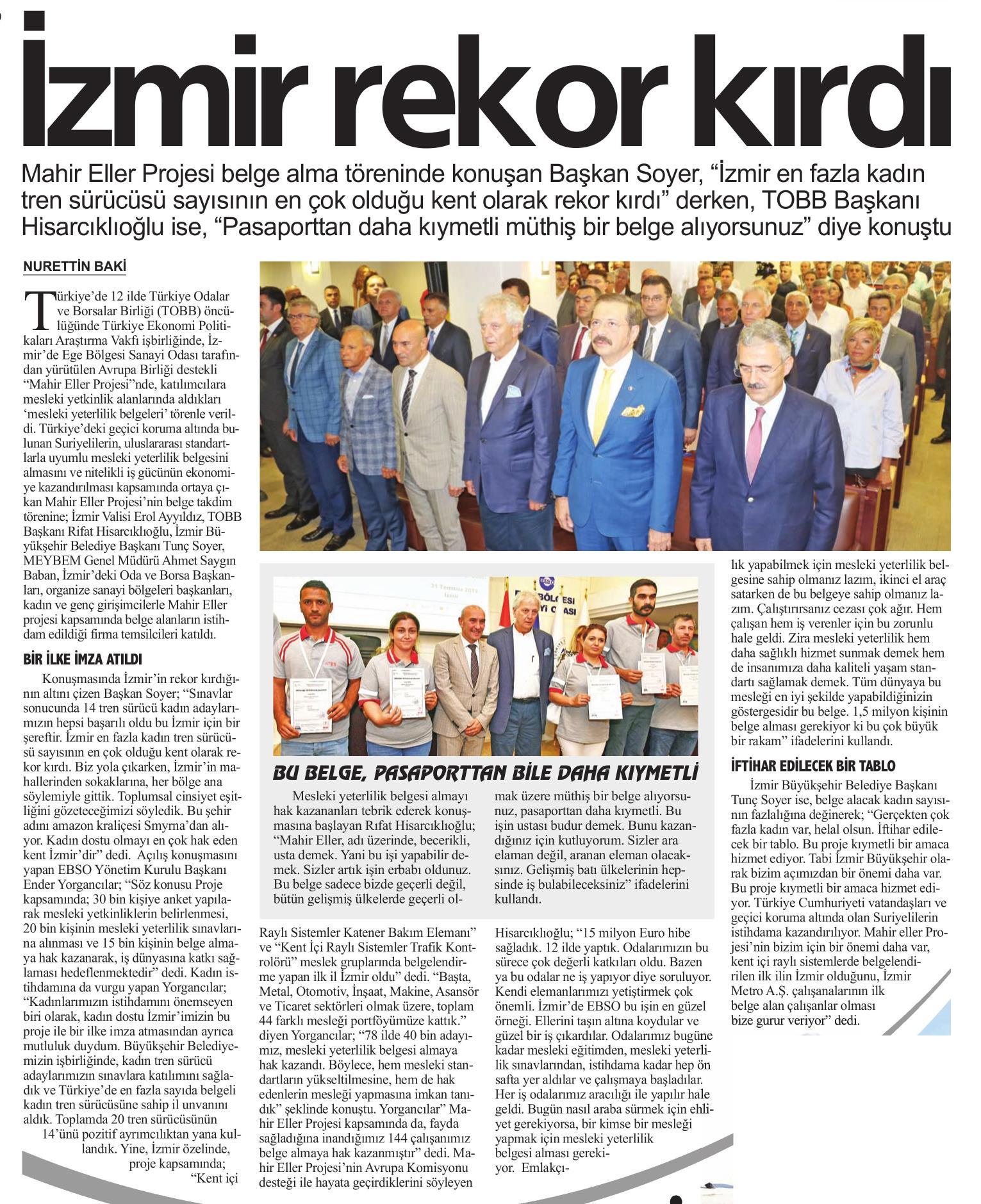 İzmir Rekor Kırdı İlkses