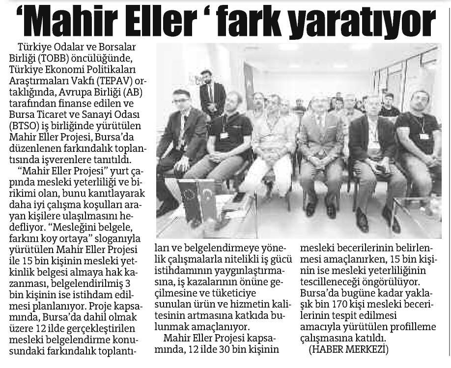 Mahir Eller Fark Yaratıyor Bursa