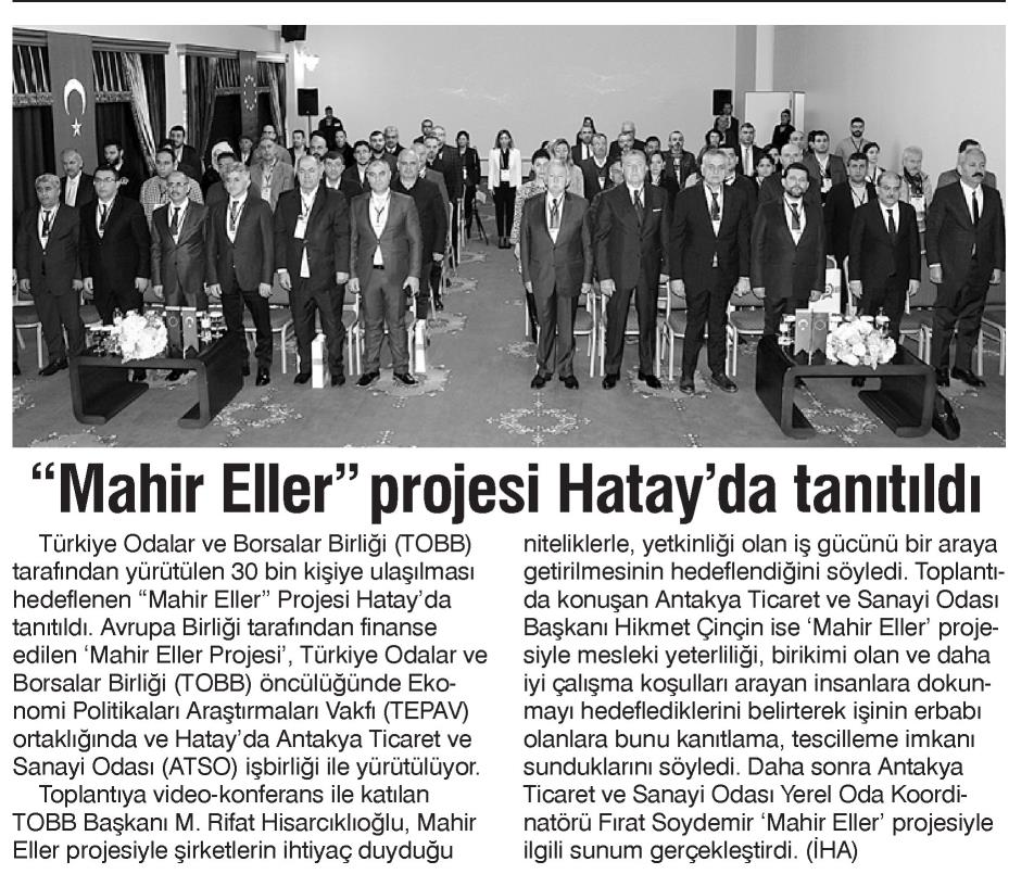 Mahir Eller Projesi Hatay