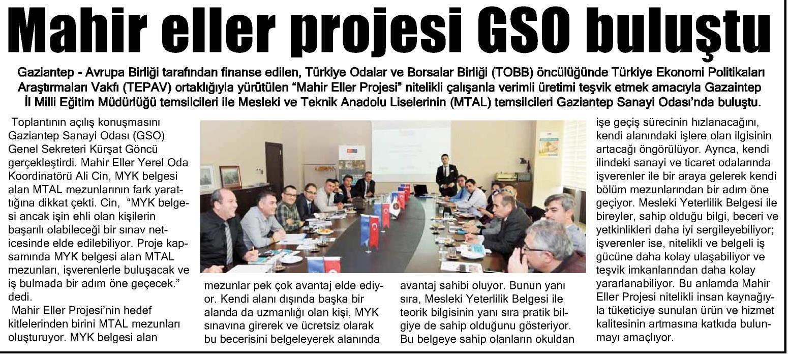 Mahir Eller Projesi GSO