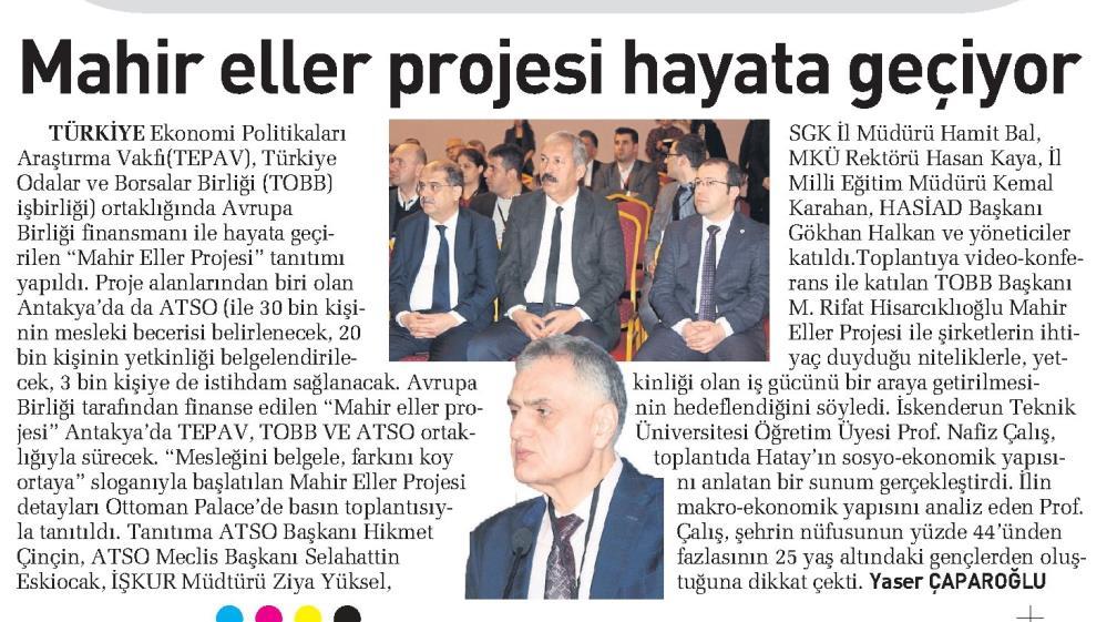 Mahir Eller Projesi Hayata Geçiyor Sabah Adana Güney