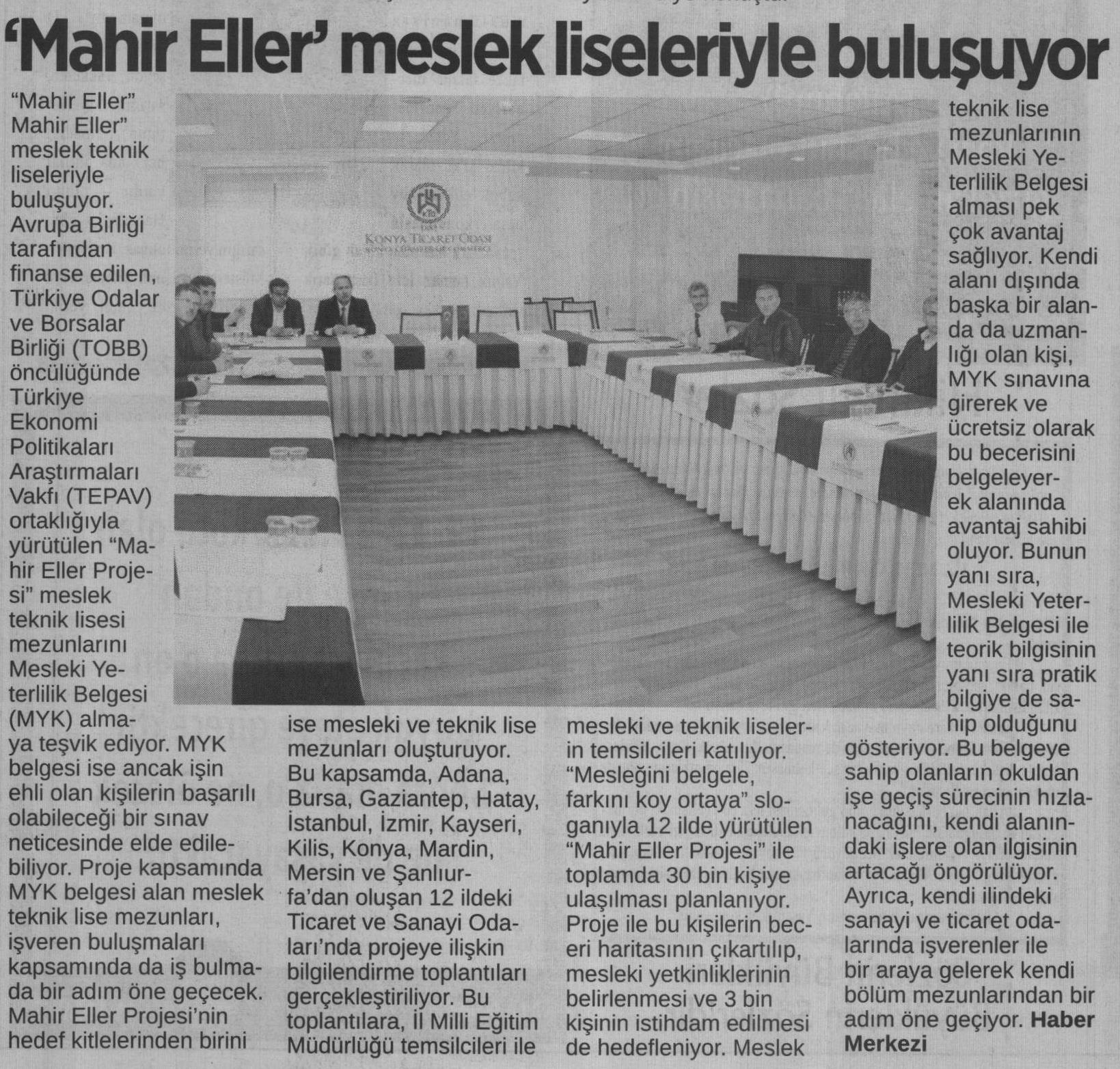 Mahir Eller Meslek Liseleriyle Buluşuyor Anadolu Telgraf