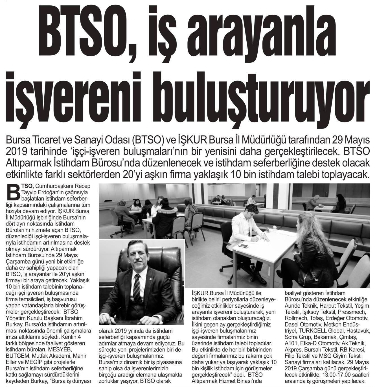 BTSO İş Arayanla İşvereni Buluşturuyor Bursa Kent
