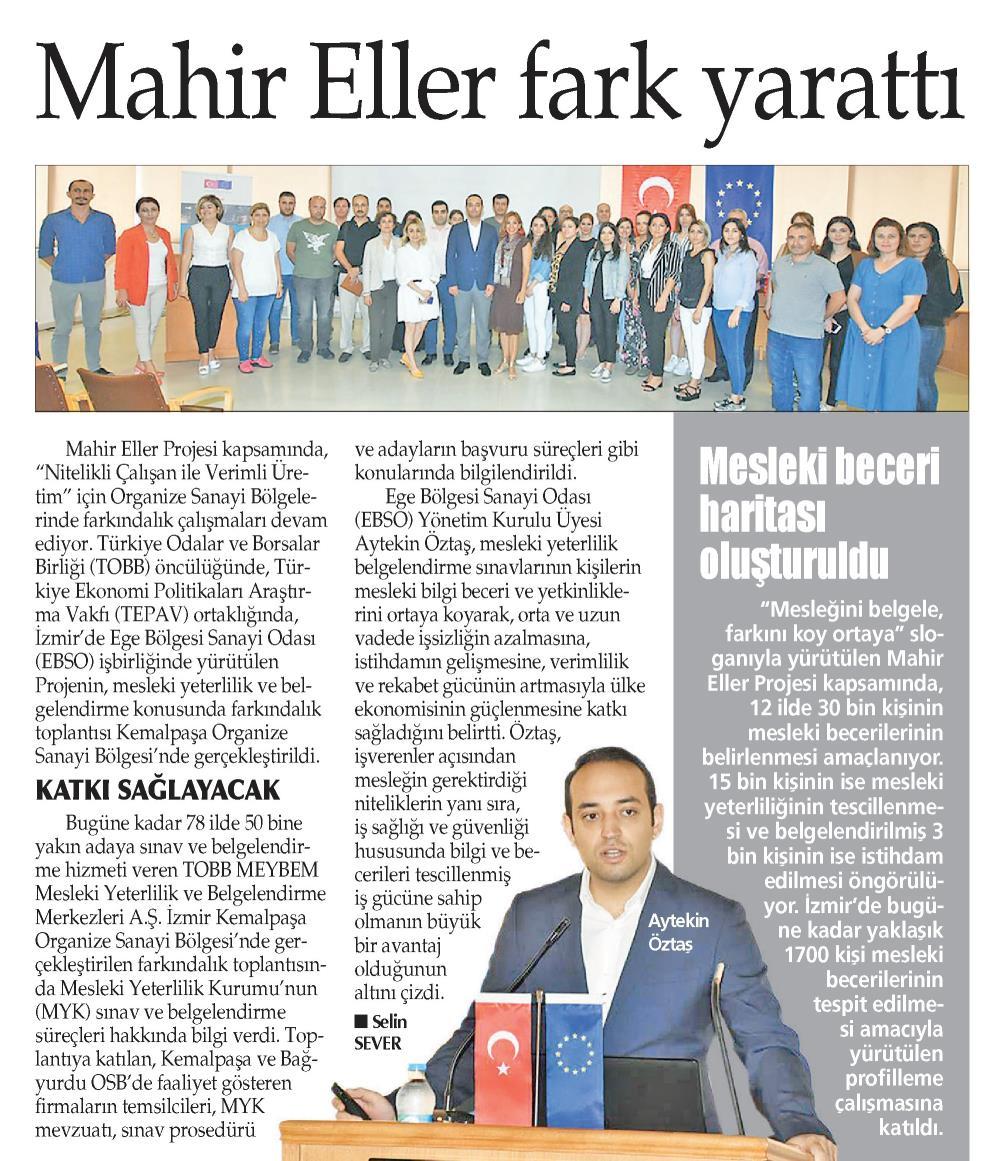 Mahir Eller Fark Yarattı Yeni Gün İzmir